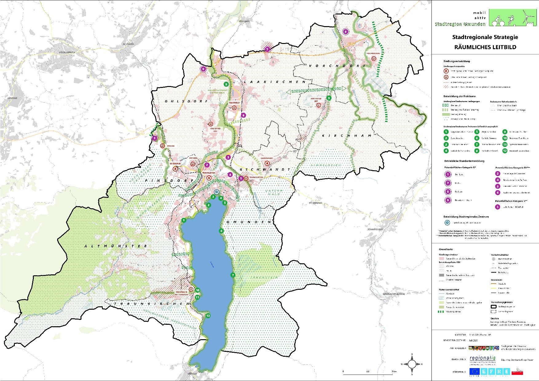 Stadtregion Gmunden Erweiterung_Räumliches Leitbild A0 20200702